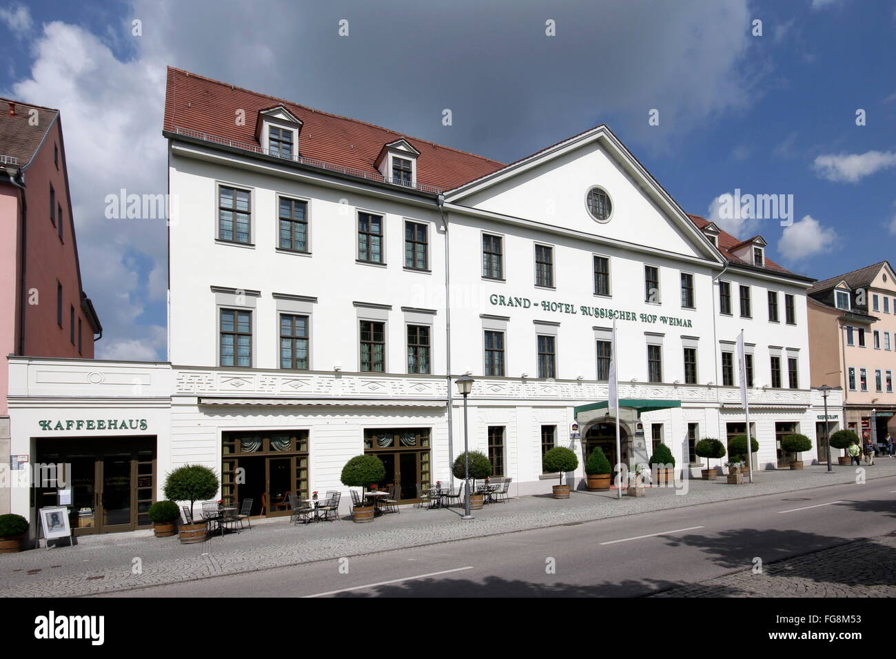 geography / travel, Germany, Thuringia, Weimar, hotel 'Russischer Hof', Additional-Rights-Clearance-Info - Stock Image