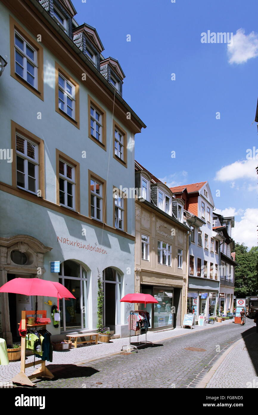 geography / travel, Germany, Thuringia, Weimar, Windischenstrasse, Additional-Rights-Clearance-Info-Not-Available - Stock Image