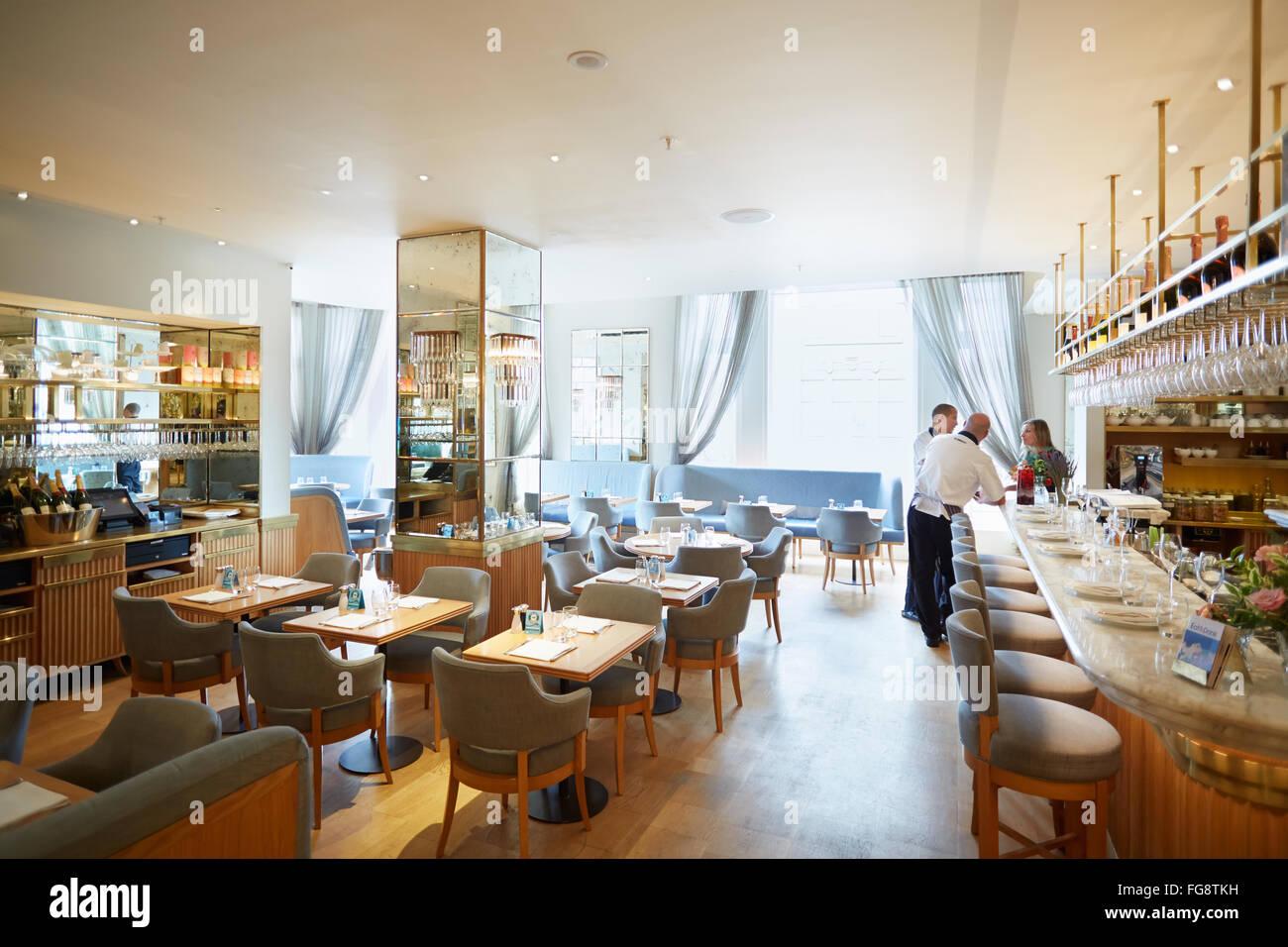 Selfridges department store interior, 'The Corner' restaurant in London - Stock Image