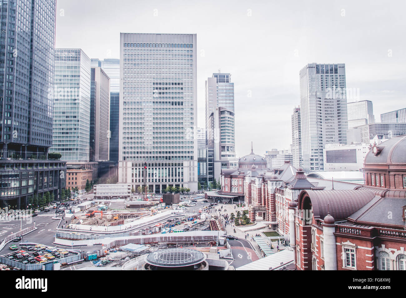 Cityscape Against Sky At Tokyo Station - Stock Image