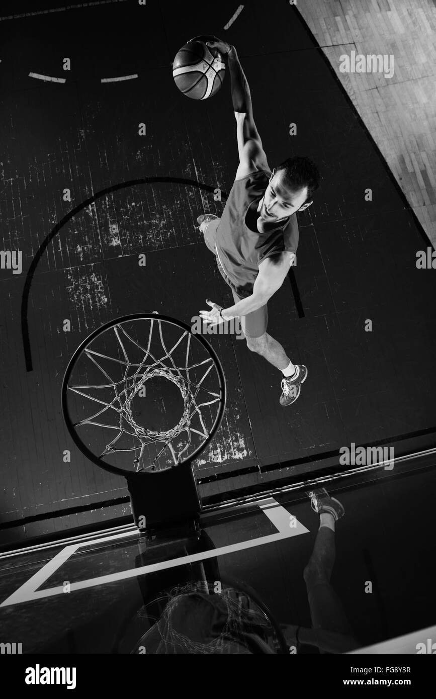 basketball player in action - Stock Image