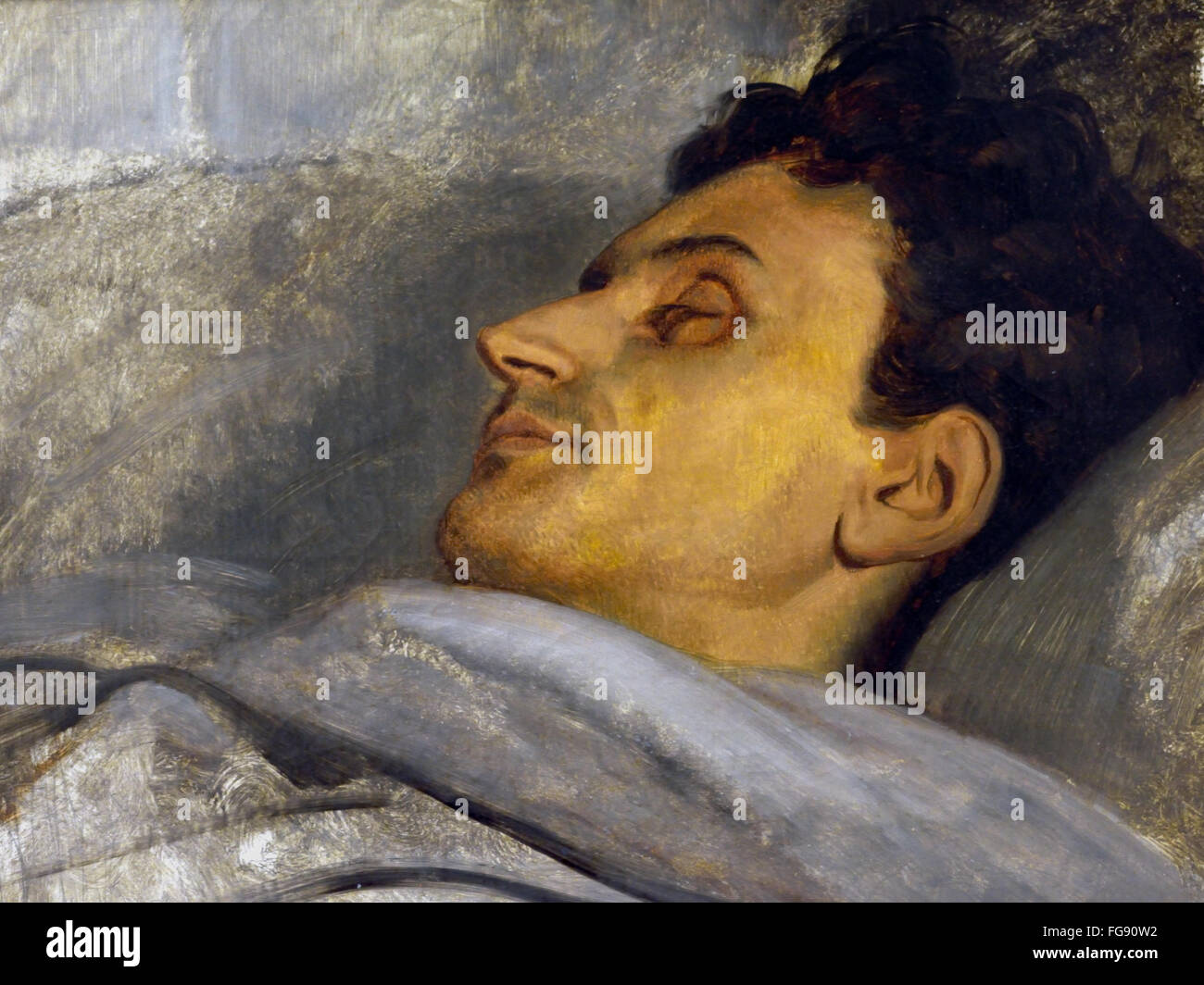 Armand Carrel on his deathbed 1836 Ary Scheffer 1795-1858 France French Stock Photo