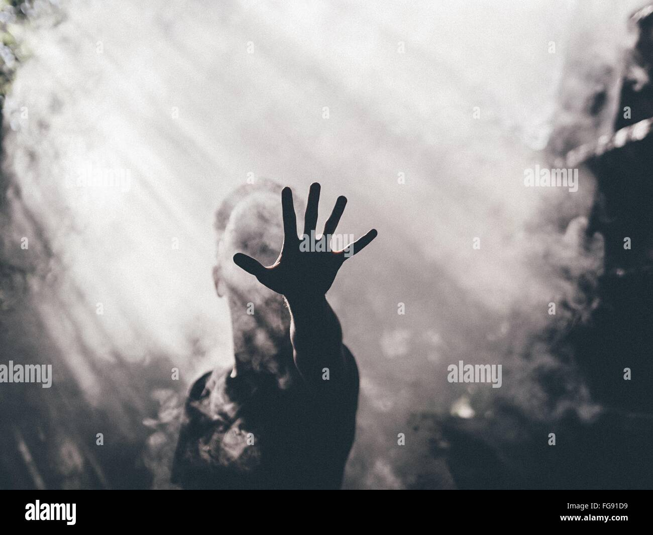 Man Showing Stop Gesture - Stock Image