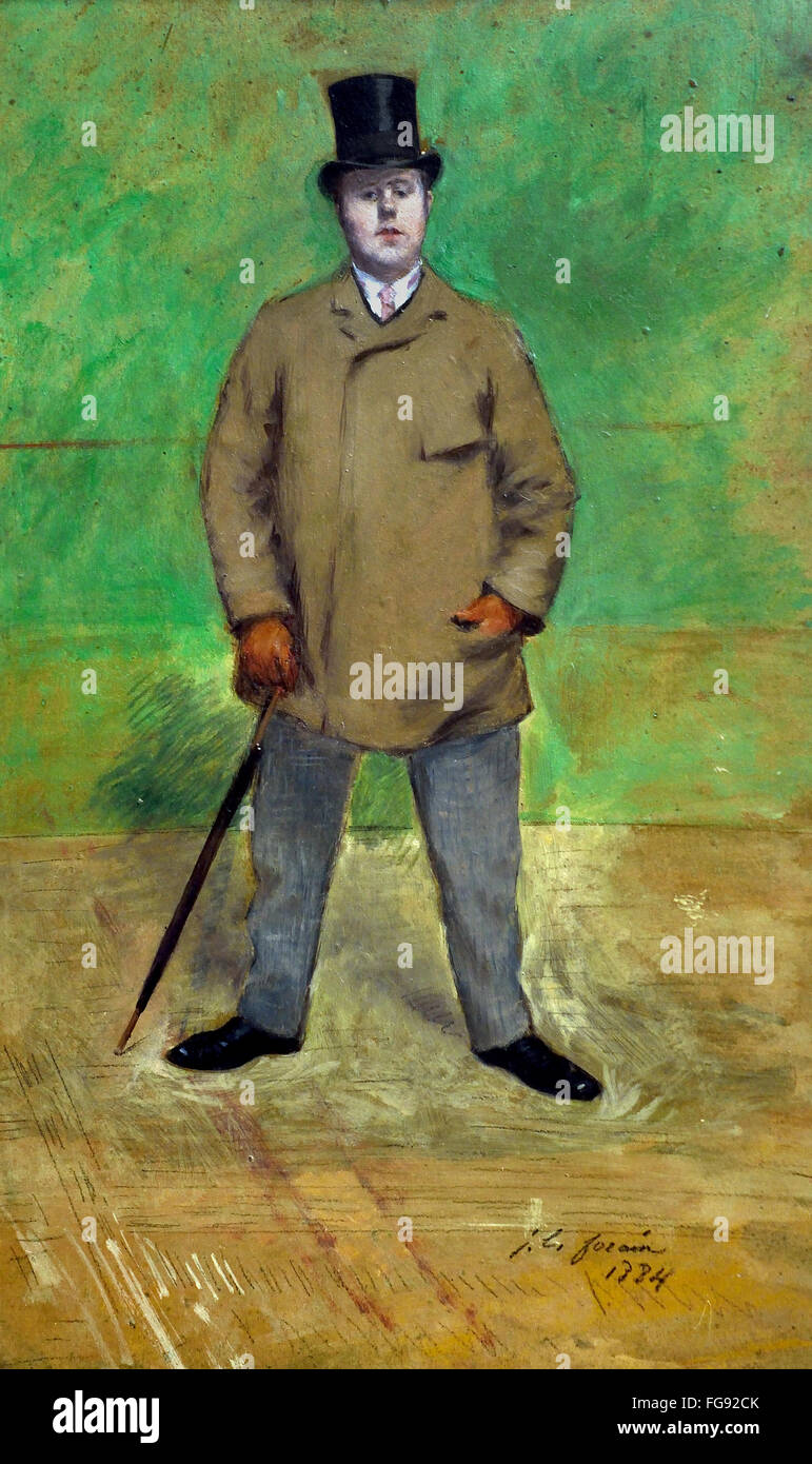 Portrait of Jacques Emile Blance ( 1861 – 1942 ) 1884 Jean Louis Forain 1852-1931 France French - Stock Image