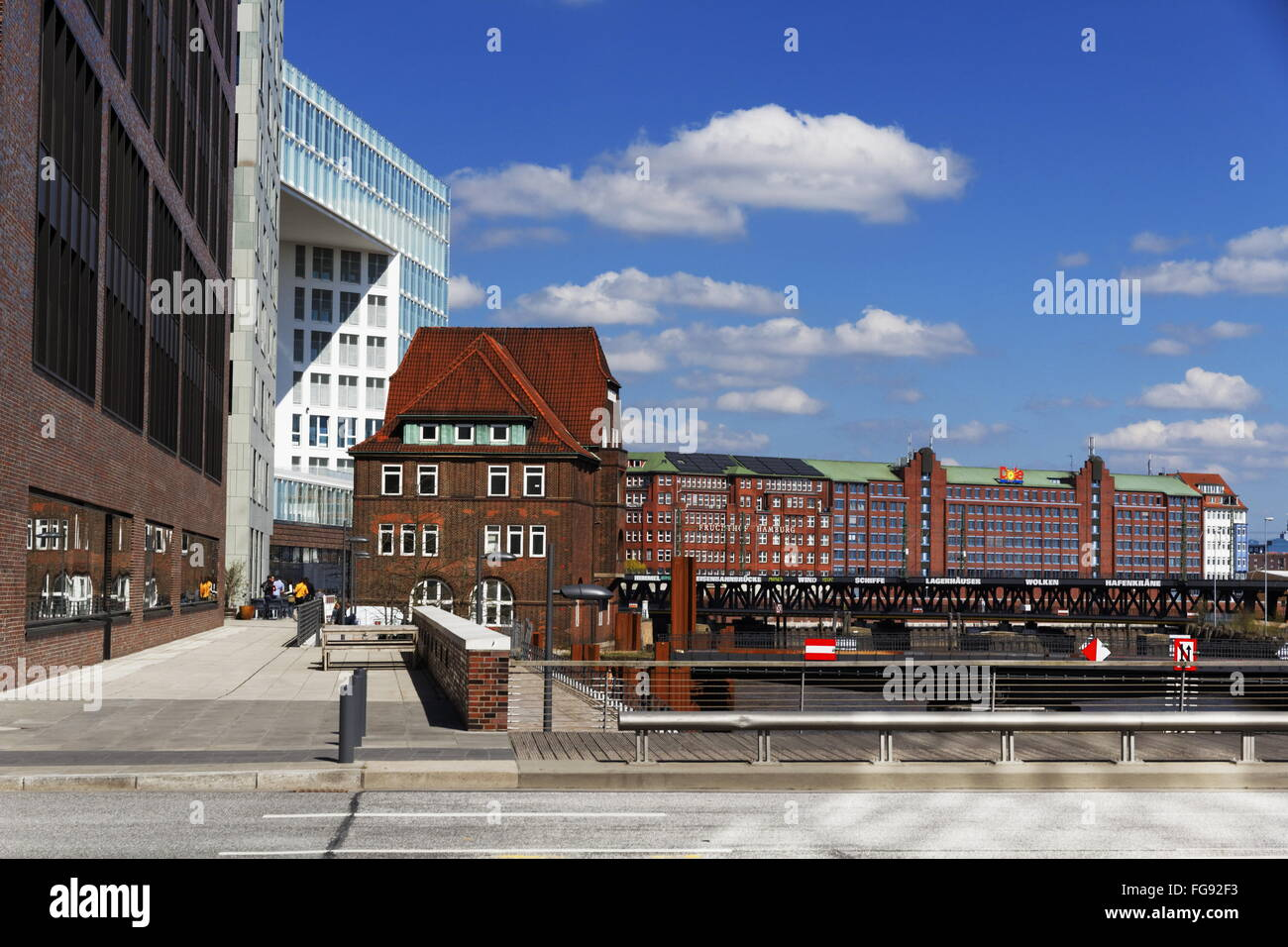 geography / travel, Germany, Hamburg, HafenCity, Ericusgraben, Additional-Rights-Clearance-Info-Not-Available - Stock Image