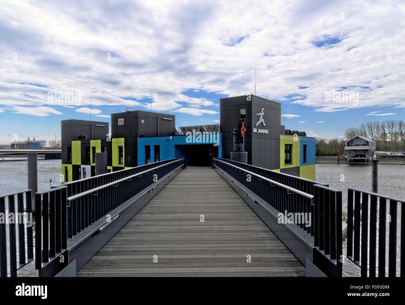 geography / travel, Germany, Hamburg, Wilhelmsburg, IBA Dock, information centre for the International Architecture - Stock Image