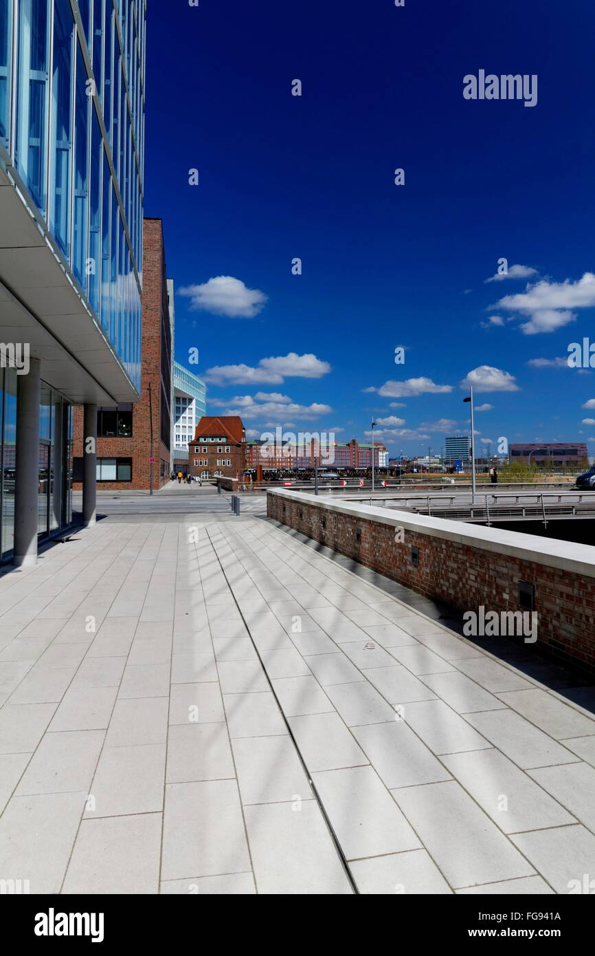 geography / travel, Germany, Hamburg, HafenCity, Brooktorhafen (harbour), , Additional-Rights-Clearance-Info-Not - Stock Image