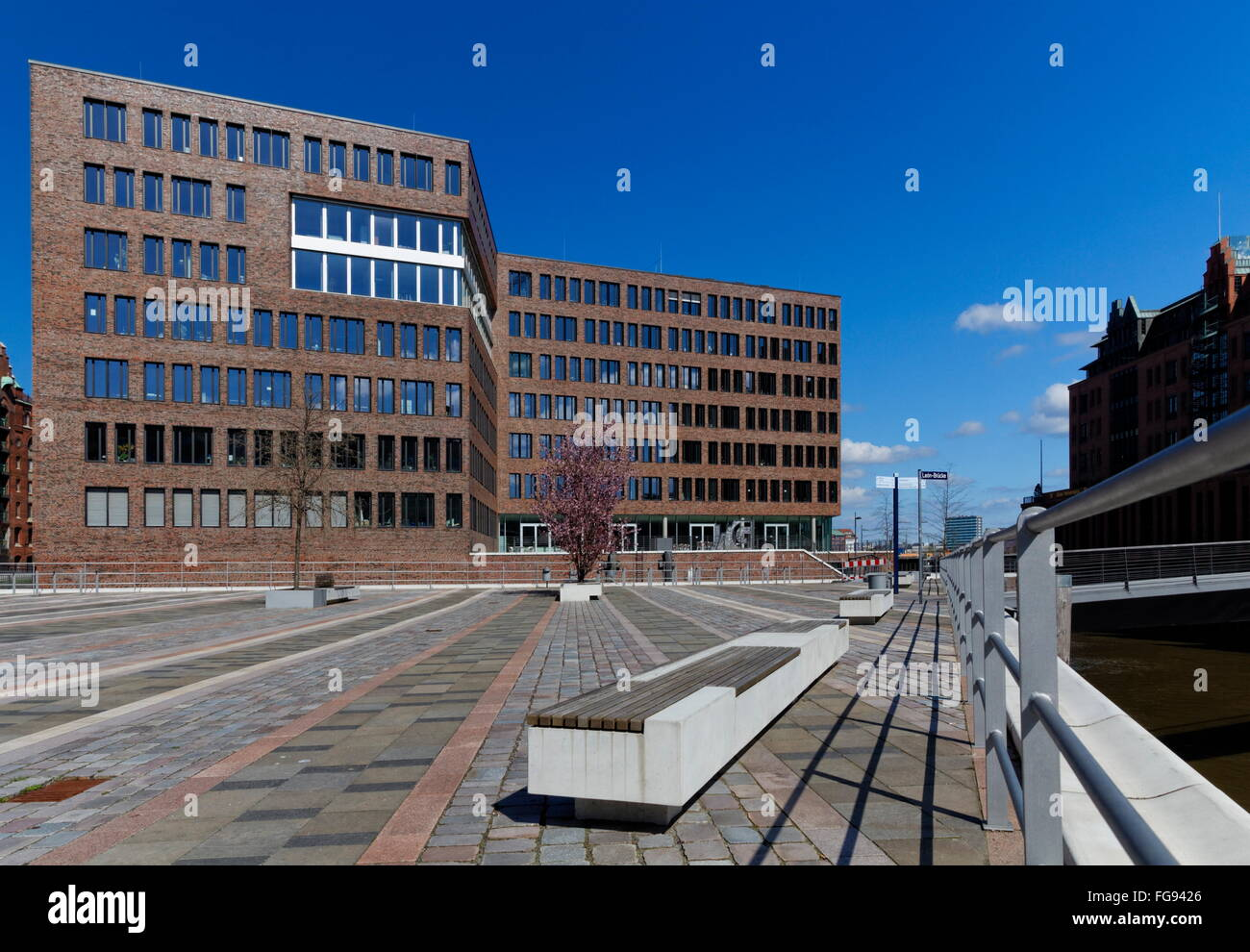 geography / travel, Germany, Hamburg, HafenCity, Brooktorkai (quay), , Additional-Rights-Clearance-Info-Not-Available - Stock Image