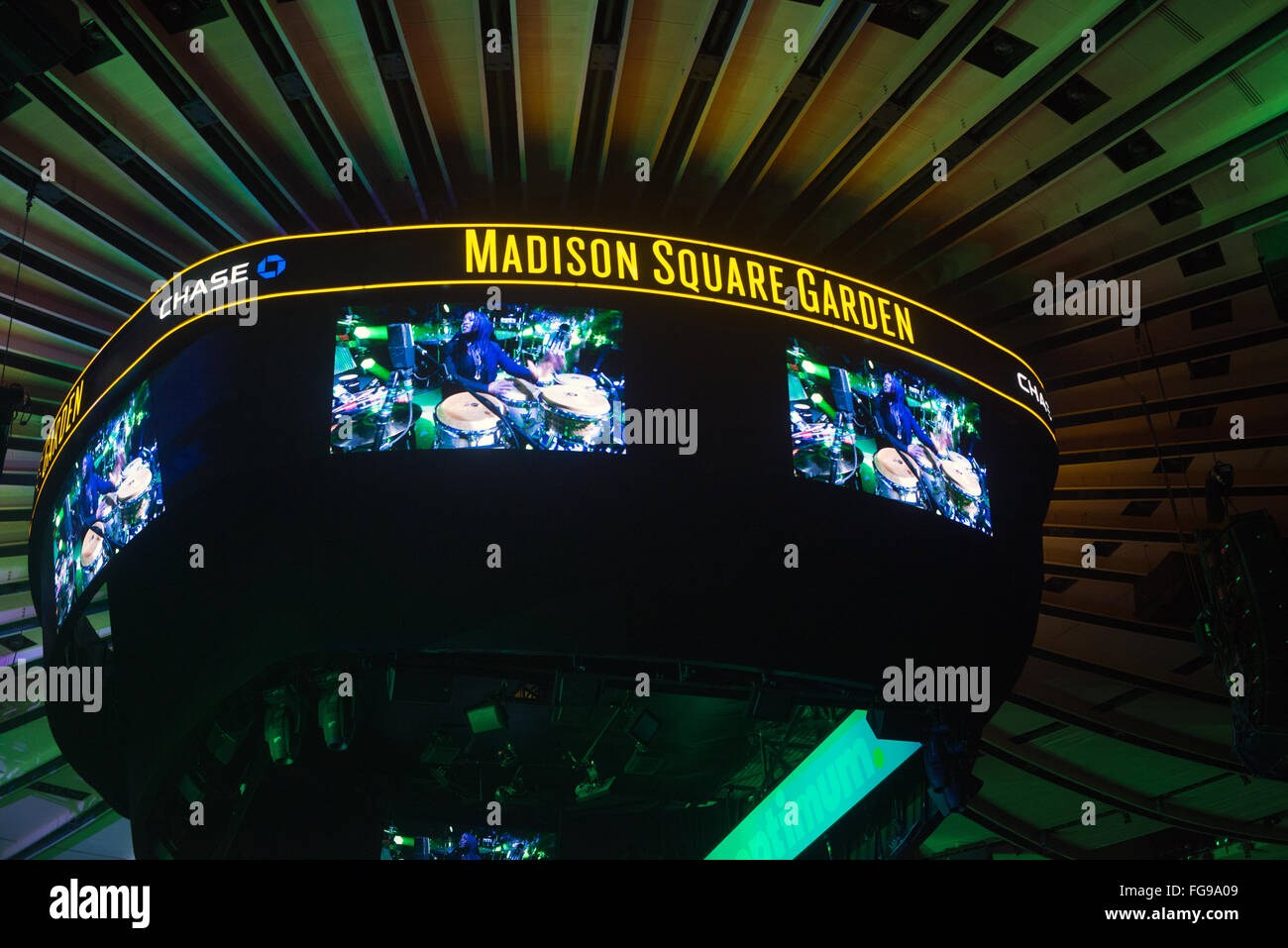 The GardenVision At Madison Square Garden During A Billy Joel Concert