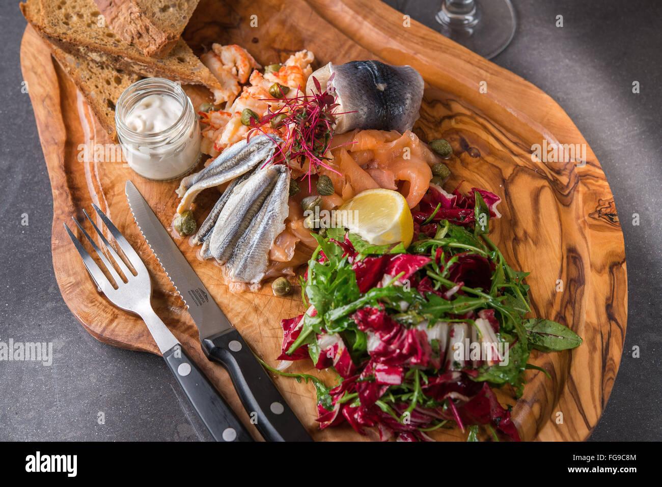 Food Cuisine and Pub Grub - Stock Image