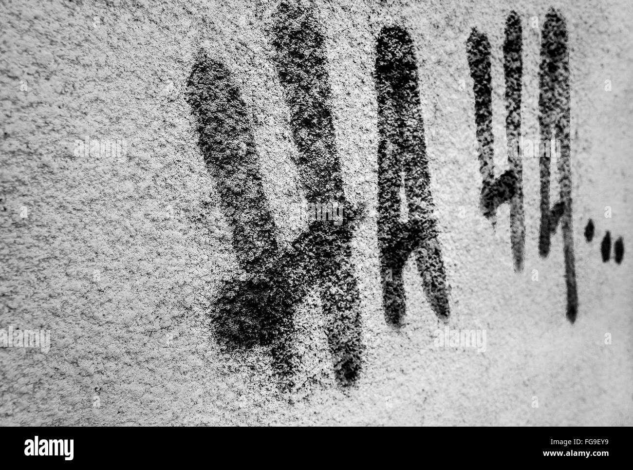 Text On Wall - Stock Image