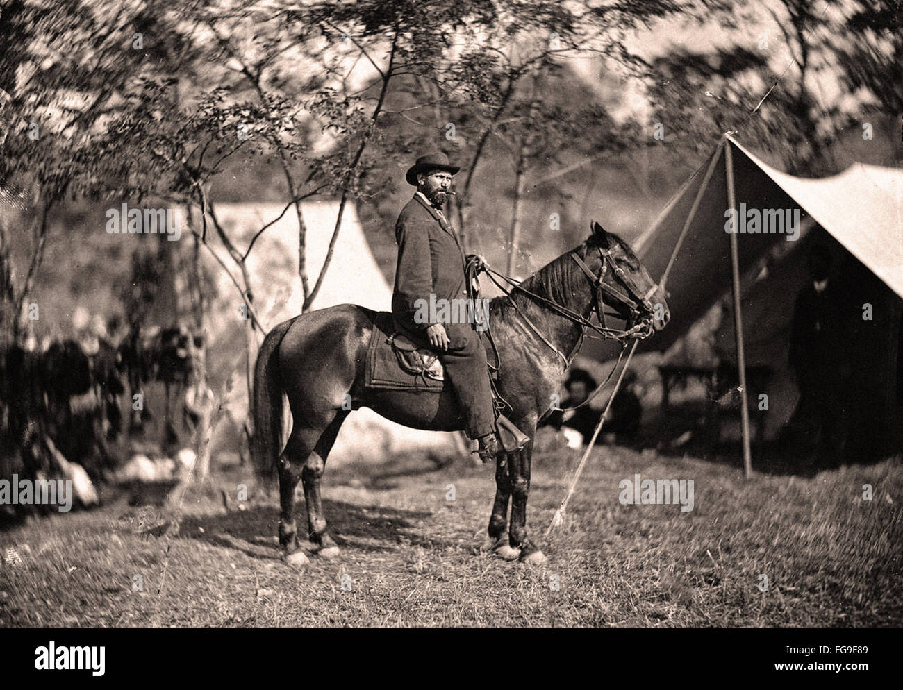 American Civil War scene - Stock Image