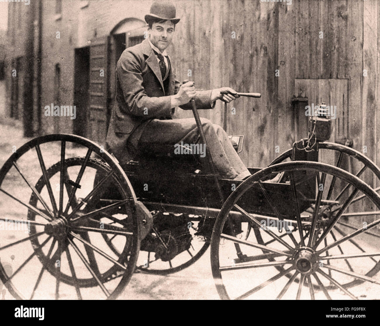 Battery powered car - 1893 - Stock Image