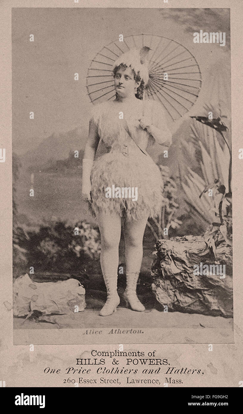 Vintage Postcards - Exotic Dancers from the 1890s - Stock Image