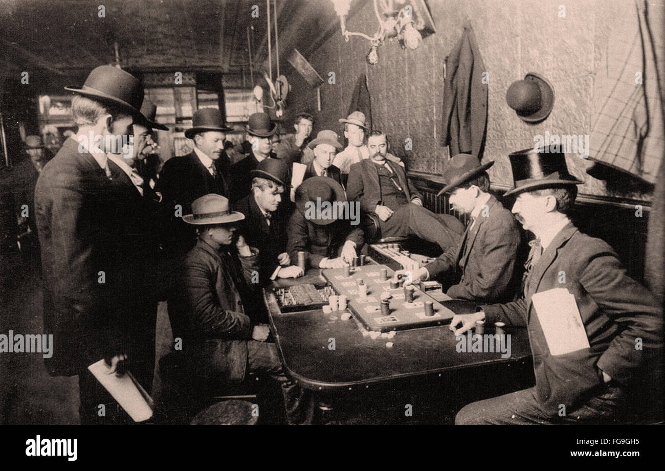 Farobank in the late 1800s - Stock Image