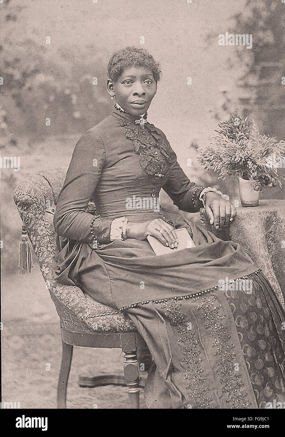 Portrait of a Afro-american woman in the late 19 th century - Stock Image