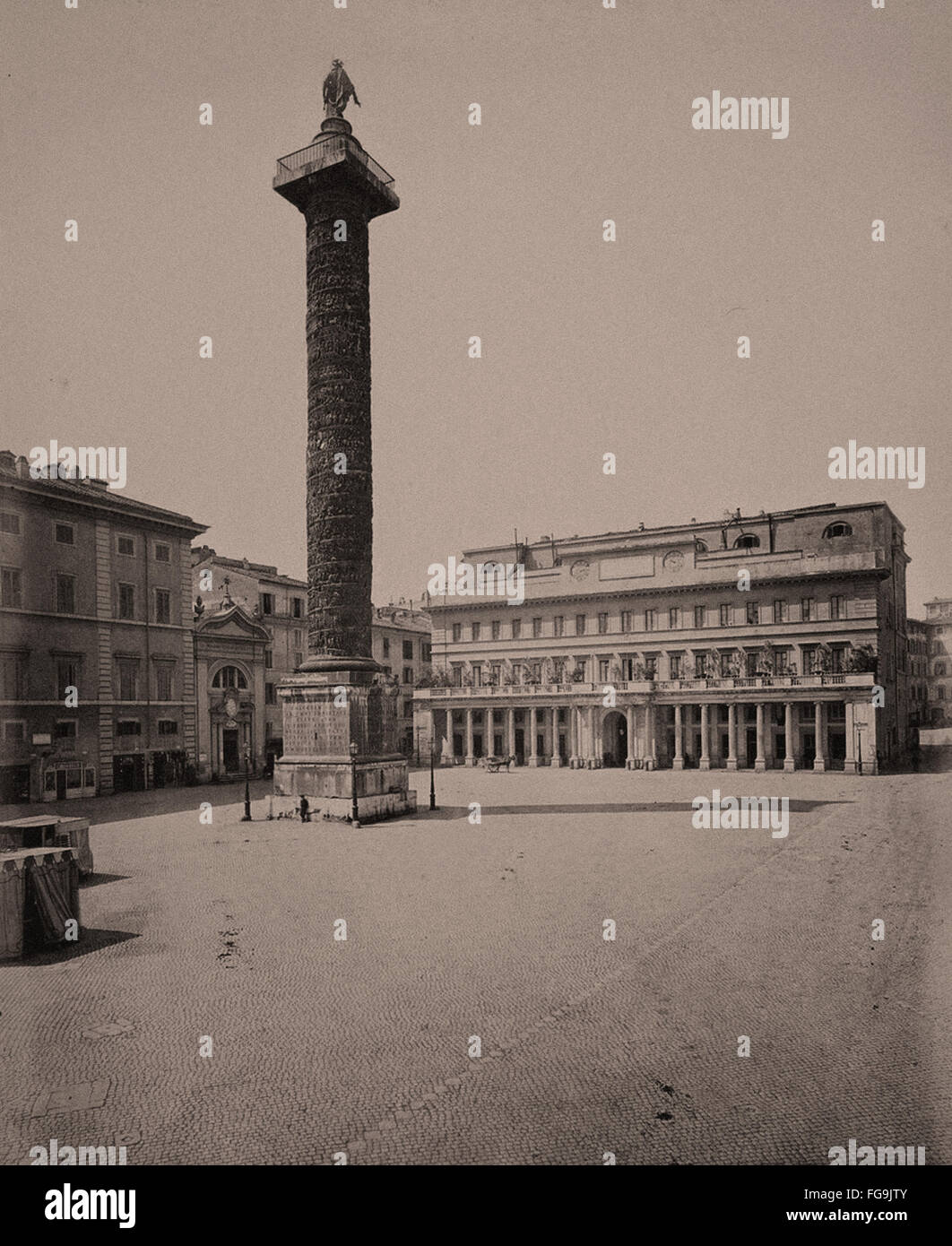 Rome in the Late 19th Century - Stock Image
