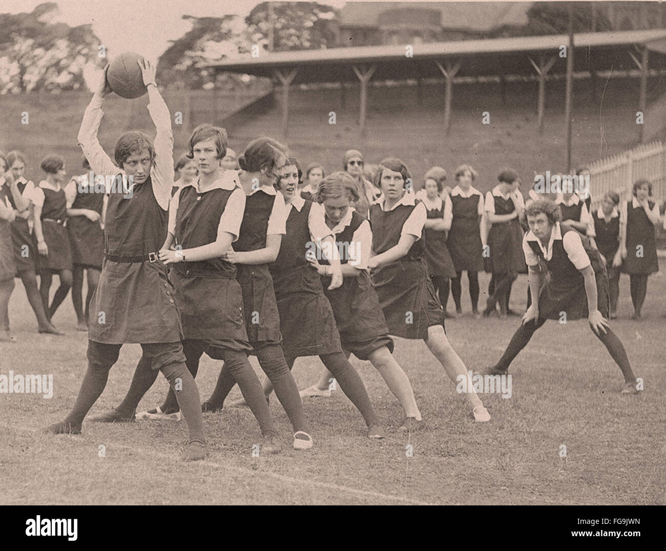 School tunnel ball - Sydney University      - 1930 - Stock Image