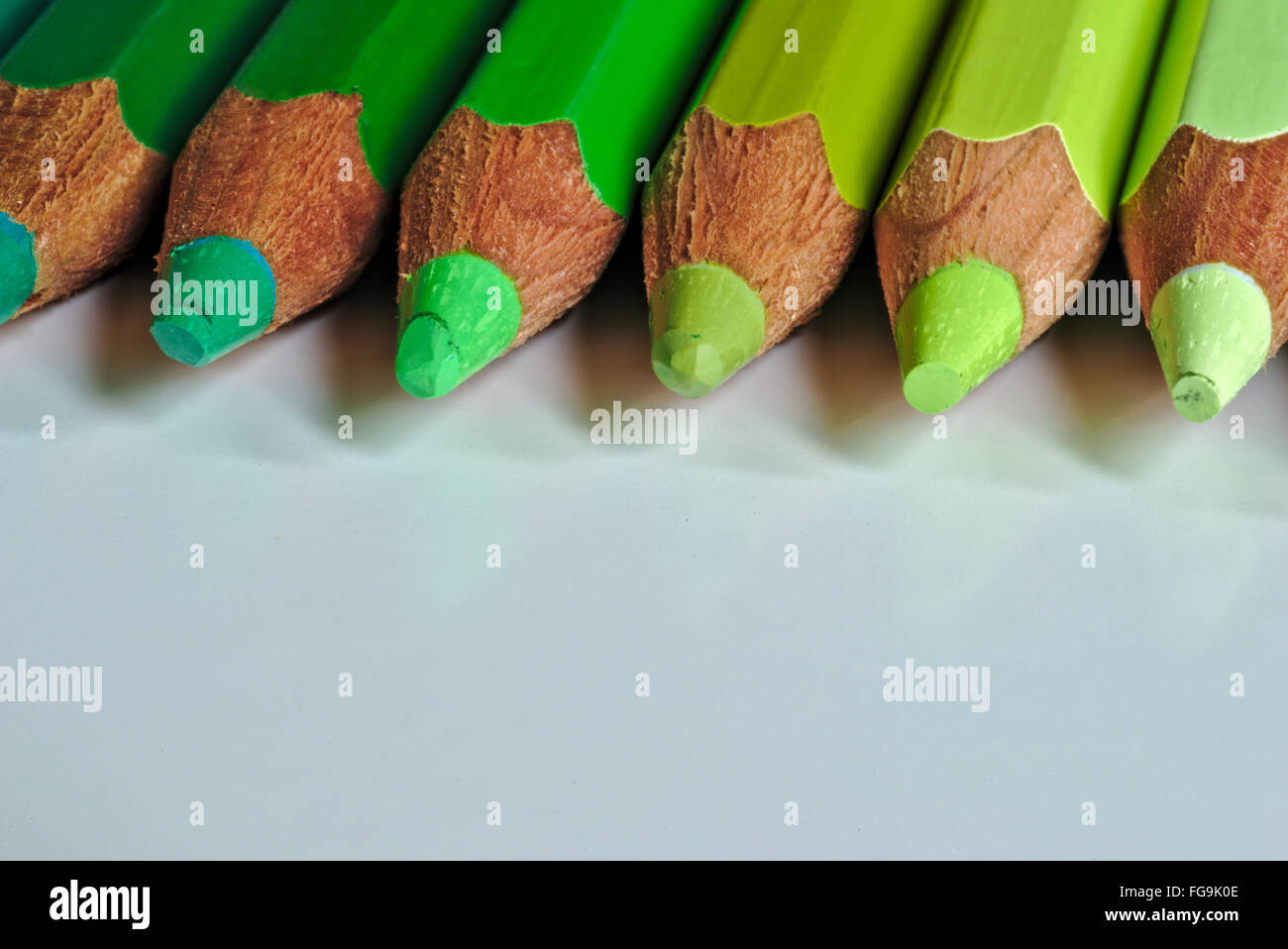 Close-Up Of Colored Pencil On Table - Stock Image