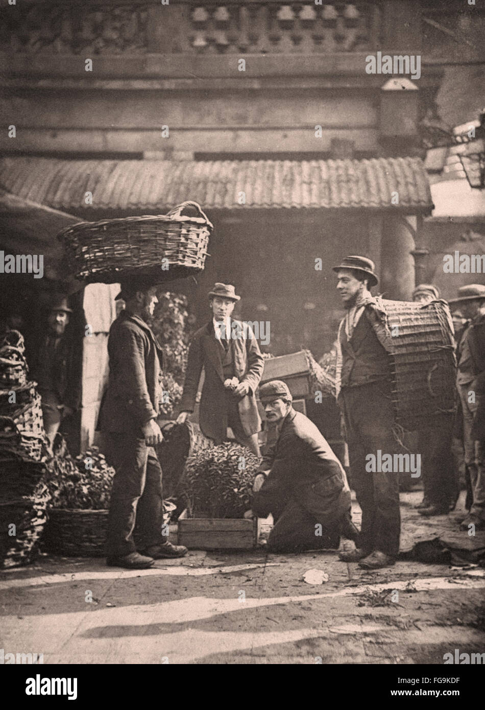 Street Life in London from the Victorian Era - Stock Image