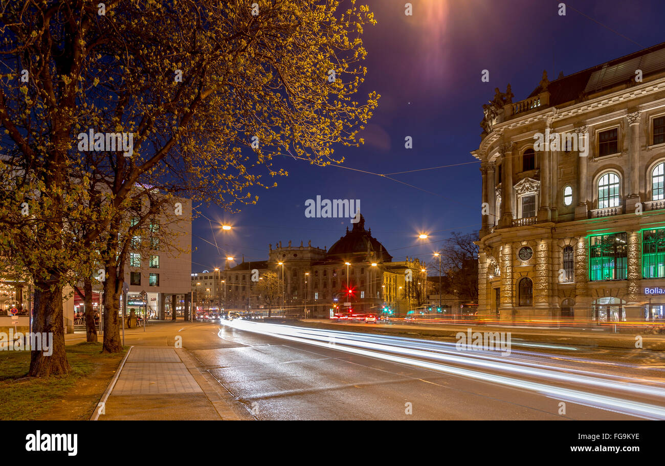 geography / travel, Germany, Bavaria, Munich, Justice Palace, old stock exchange, Lenbachplatz (square), Additional - Stock Image