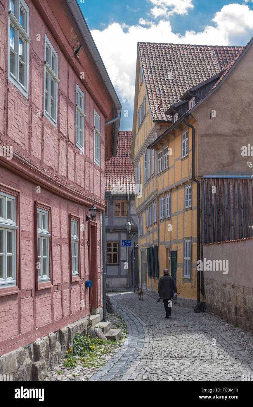 geography / travel, Saxony-Anhalt, Quedlinburg, 'Hoelle', Additional-Rights-Clearance-Info-Not-Available - Stock Image