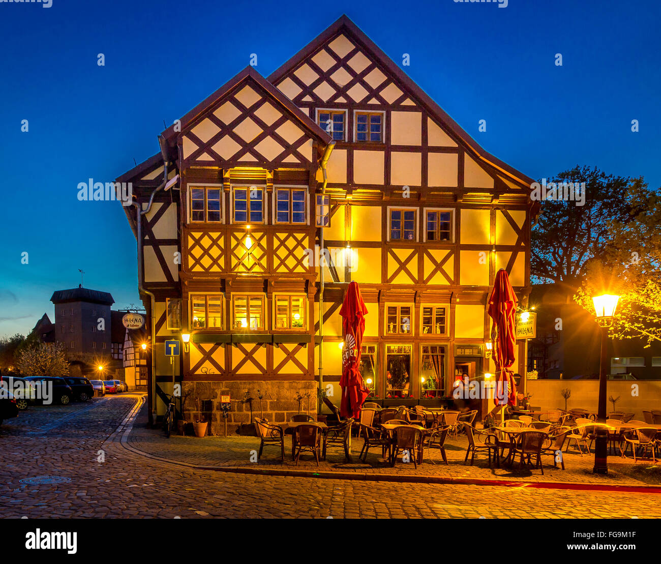 geography / travel, Saxony-Anhalt, Quedlinburg, Additional-Rights-Clearance-Info-Not-Available - Stock Image