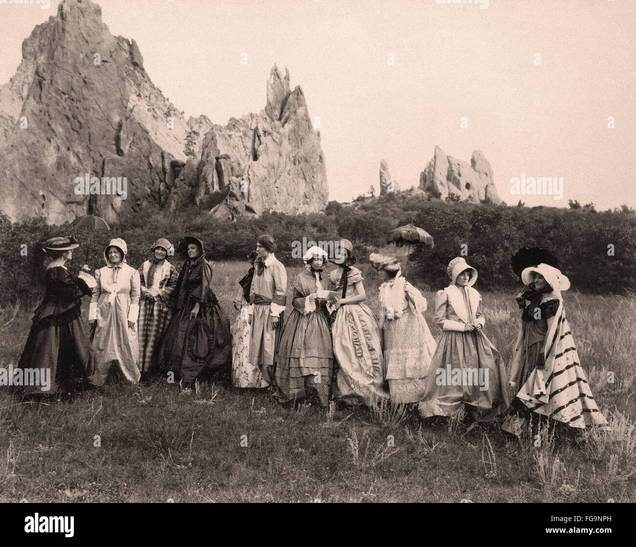 Women rehearsing for the Equal Rights - Colorado Springs -  1848 - Stock Image