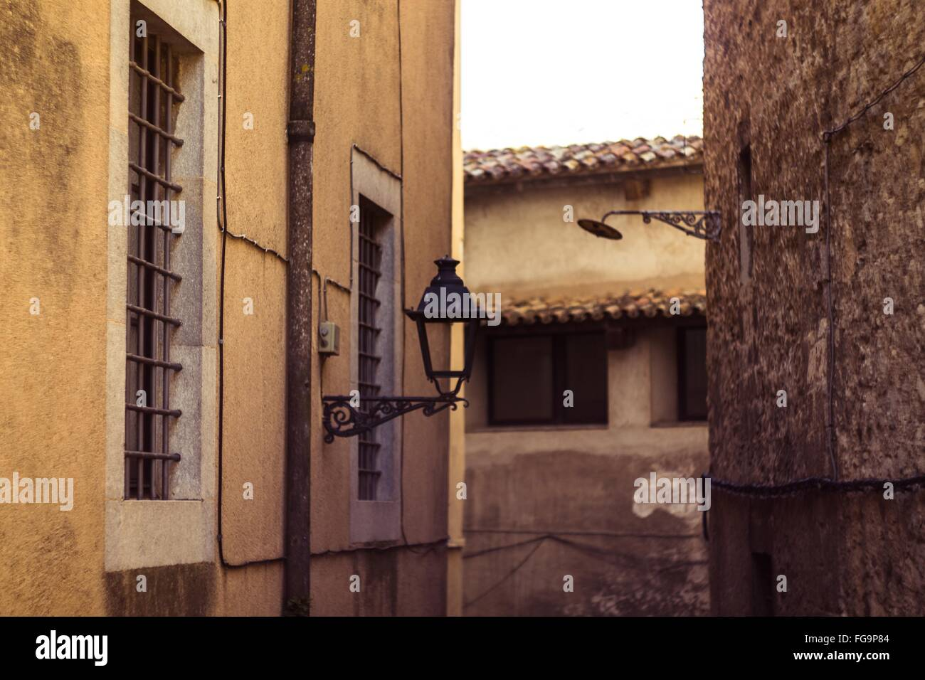 Light Fixture Mounted On Building - Stock Image