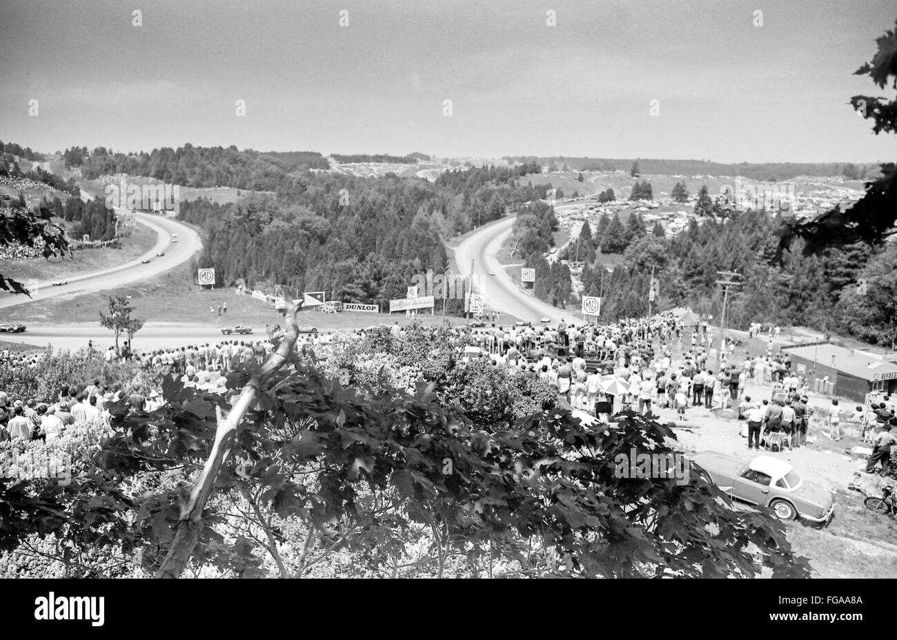 The beginning of Motorsport and formal one and Grand Prix racing in Canada at Mosport Race Track near Bownmanville, - Stock Image