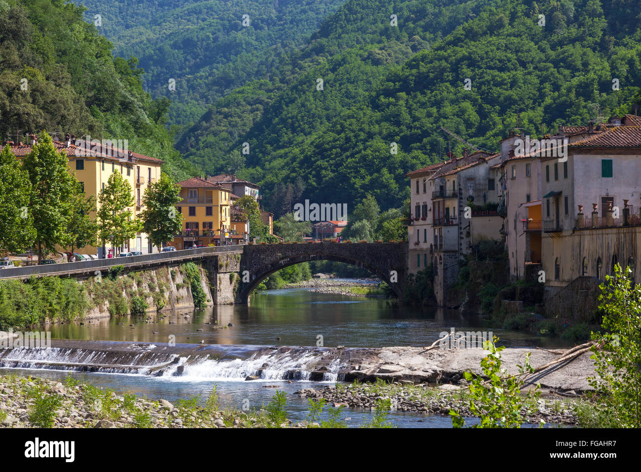 River through bagni di lucca italy stock photo 96119835 - Terme di bagni di lucca ...