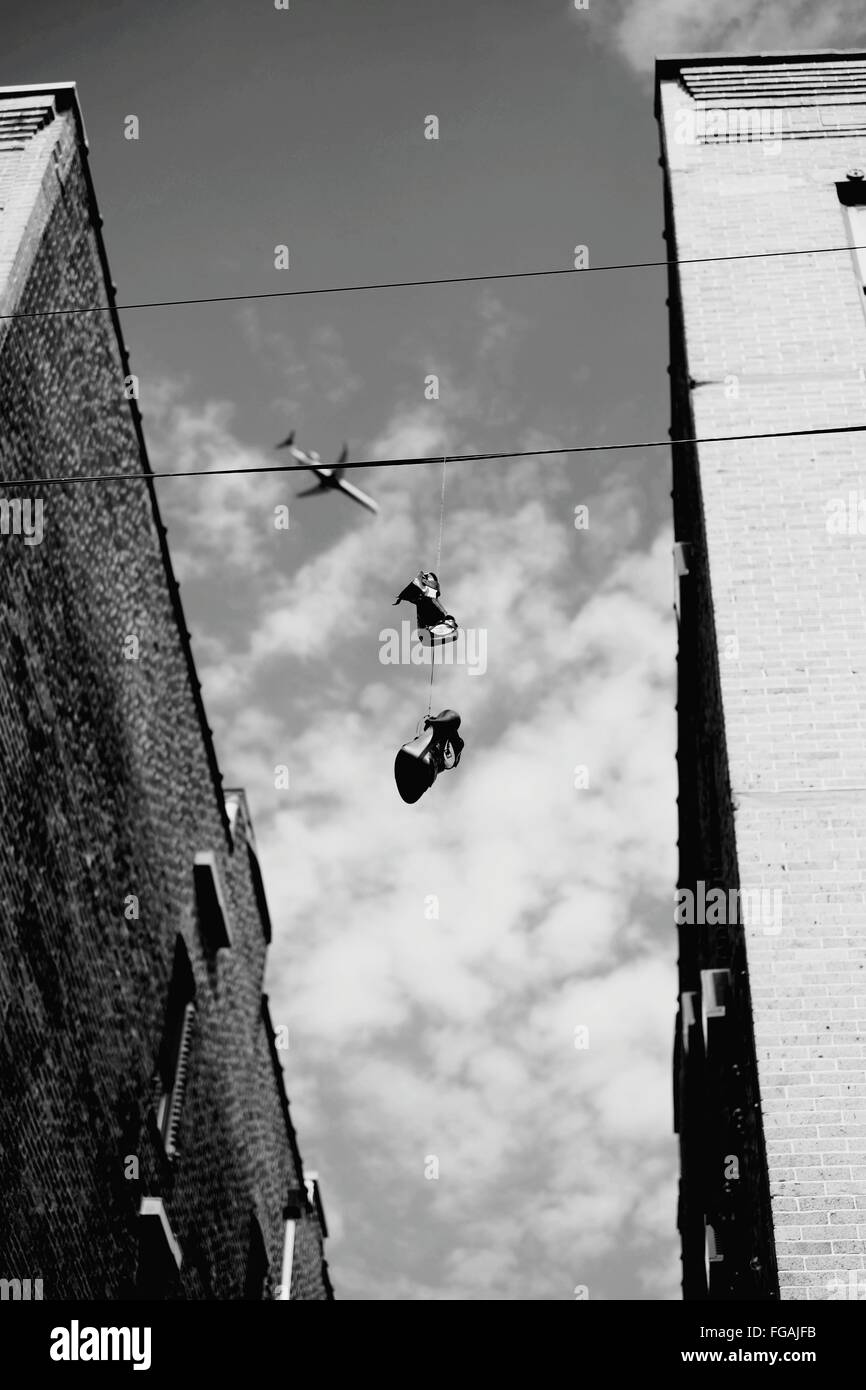 Shoes Hanging Wire Stock Photos & Shoes Hanging Wire Stock Images ...