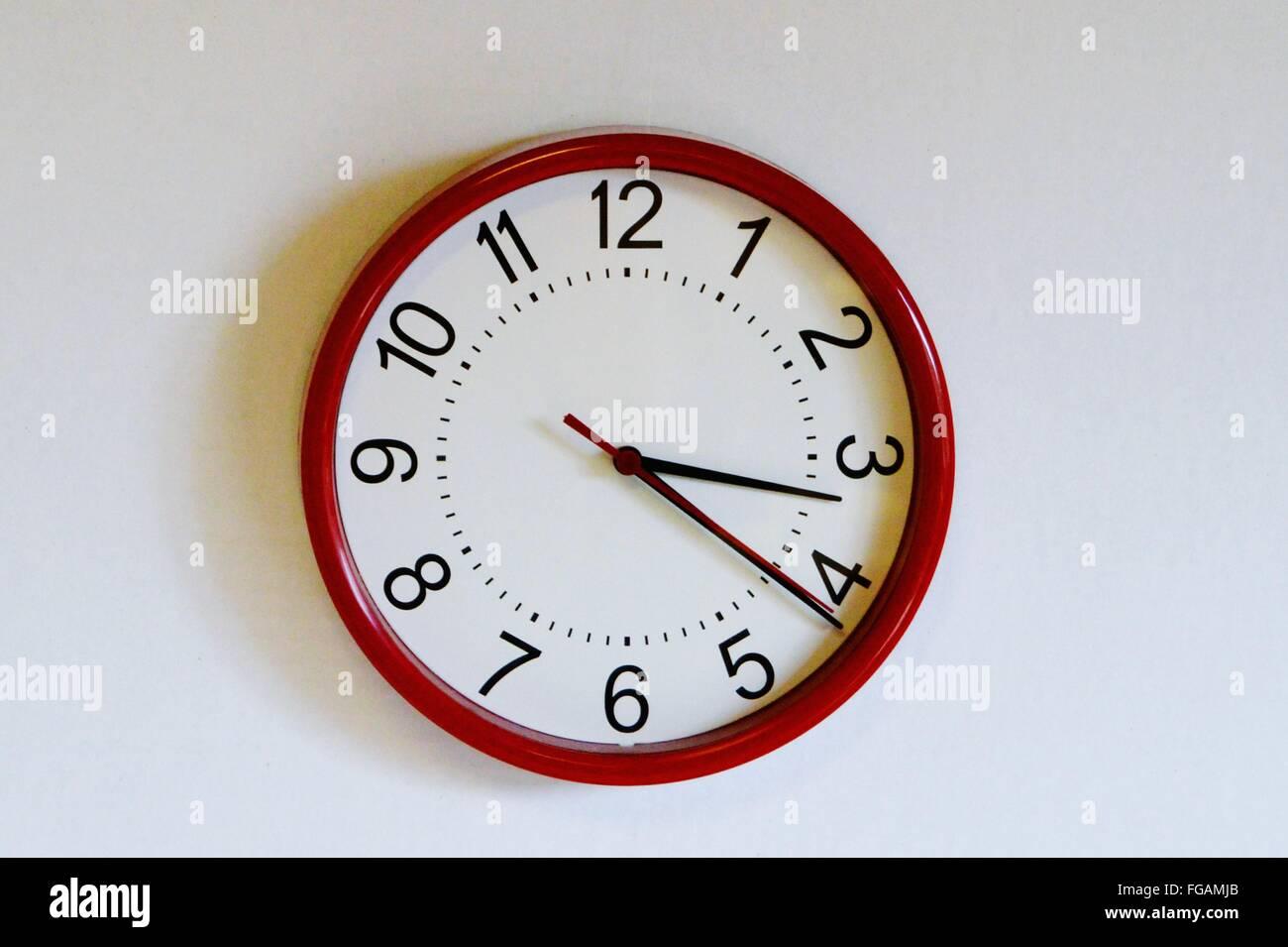 Close-Up Of Wall Clock - Stock Image