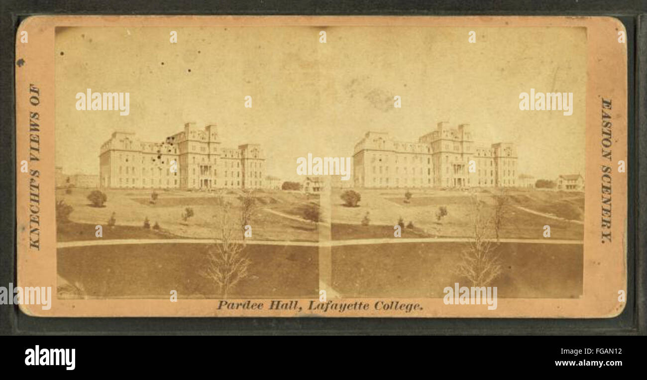 Pardee Hall, Lafayette College, by R. Knecht - Stock Image