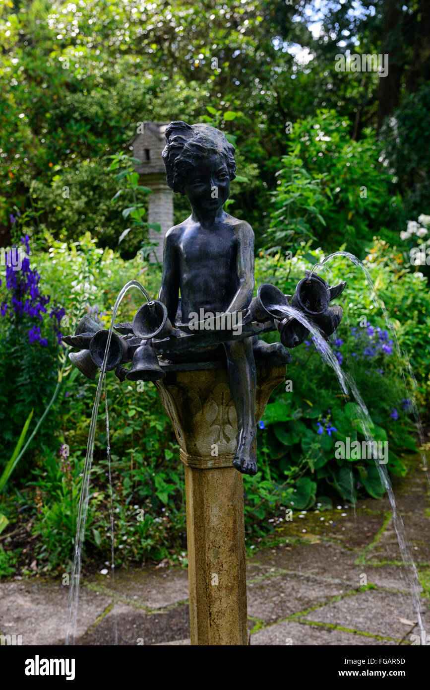 water sprite nymph fairy imp spout feature garden gardening fountain RM Floral - Stock Image