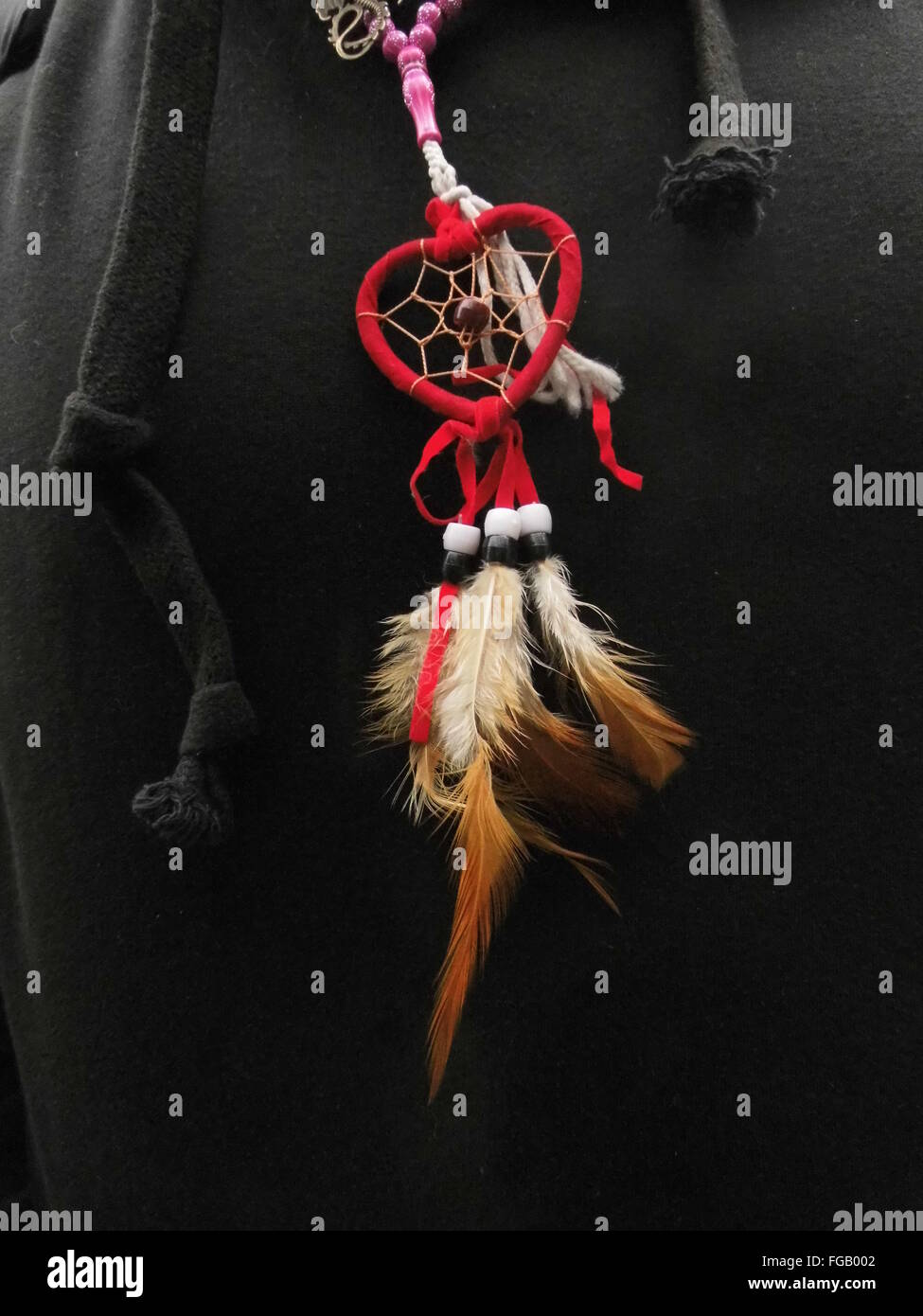 Midsection Of Person With Dreamcatcher - Stock Image
