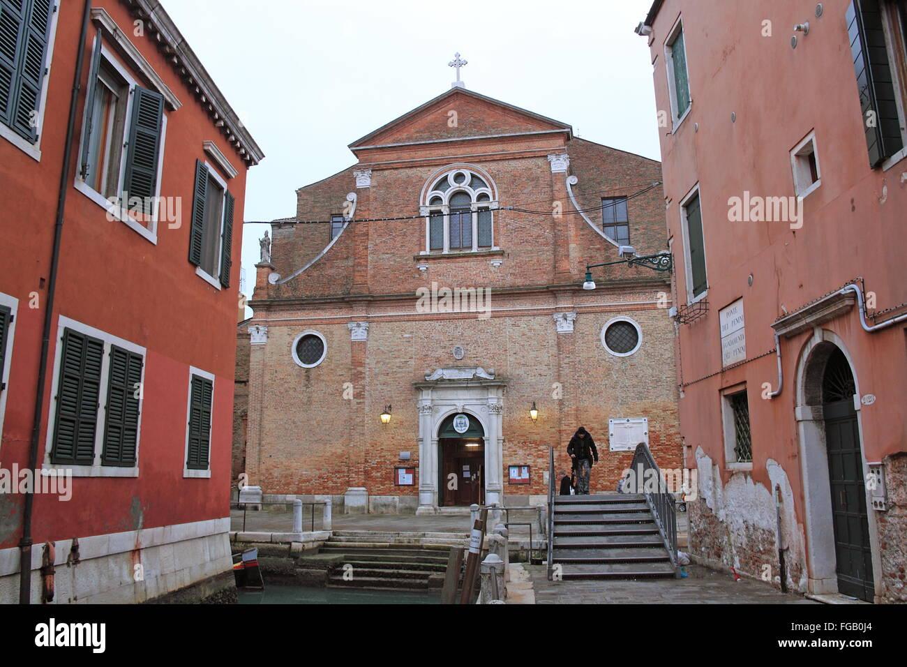 Chiesa di San Martino, Campo San Martino, Castello, Venice, Veneto, Italy, Adriatic Sea, Europe - Stock Image