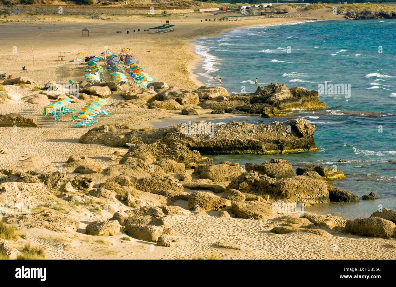 Griechenland, Kreta, bei Kissamos, der Strand von Falasarna. - Stock Image