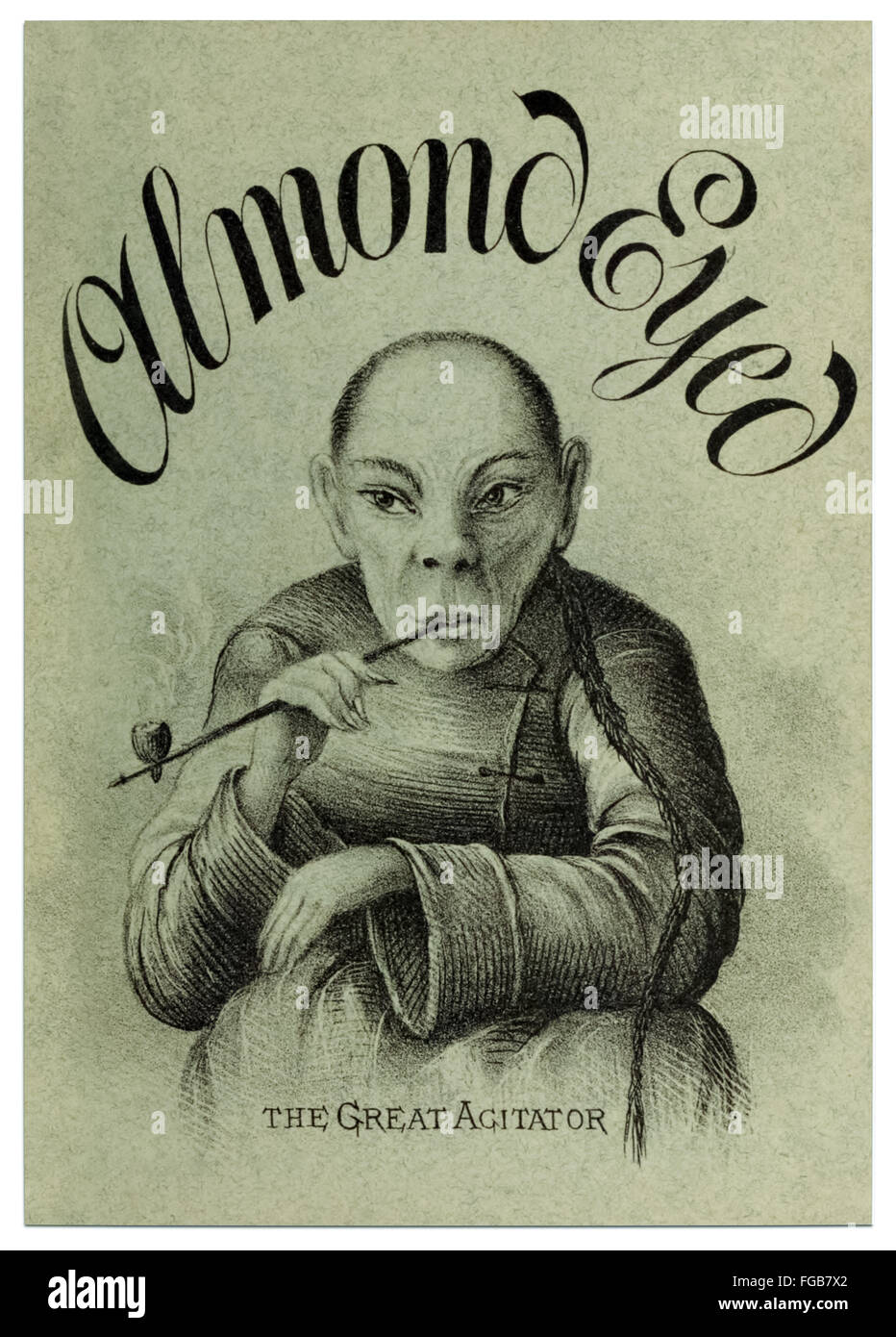 Front Cover of 'Almond Eyed - The Great Agitator' by Atwell Whitney published in 1878, a contemporary fictional - Stock Image