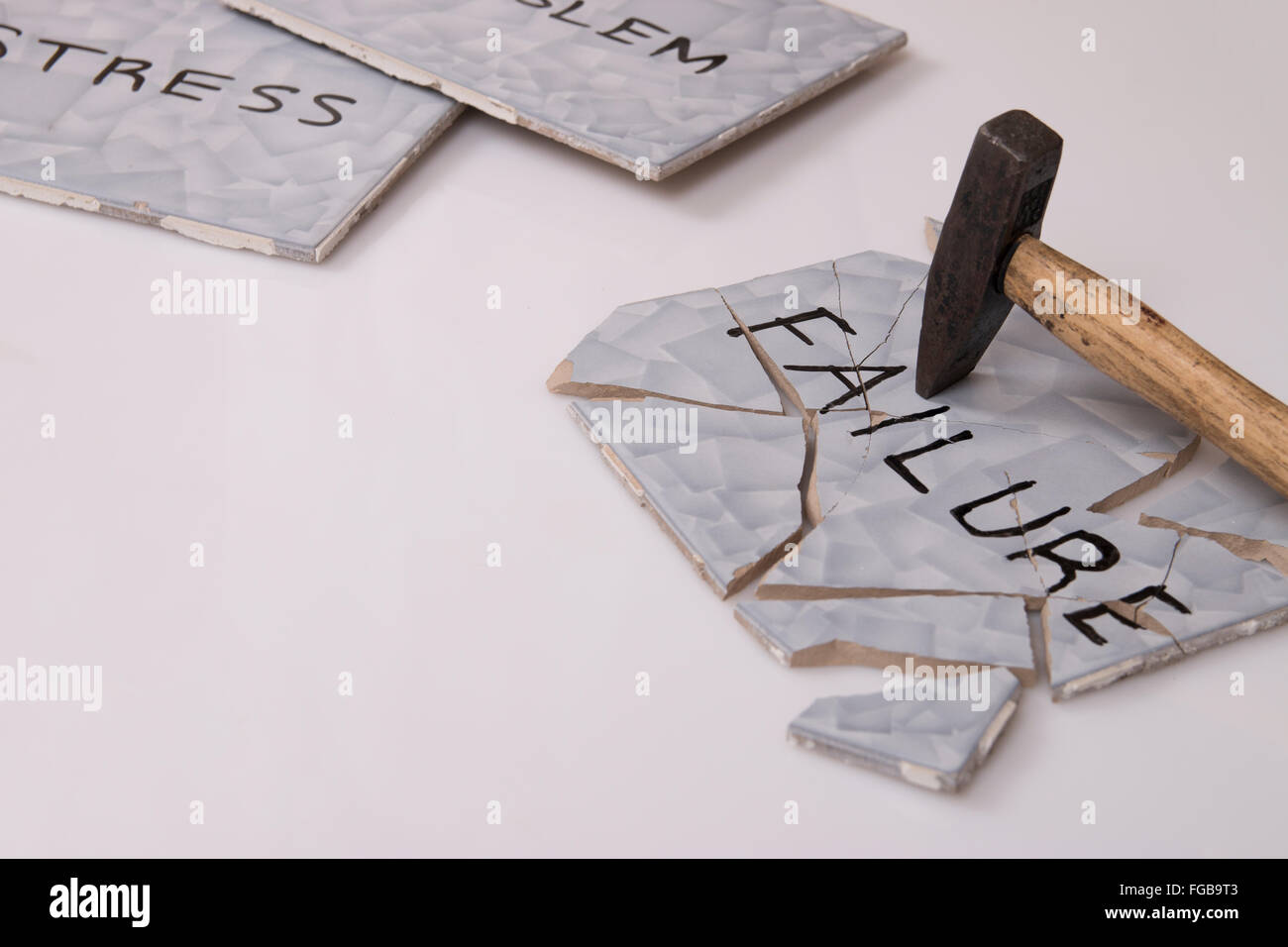 overcome failure and stress - Stock Image