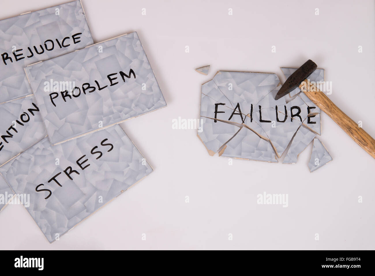 overcome failure and problems - Stock Image