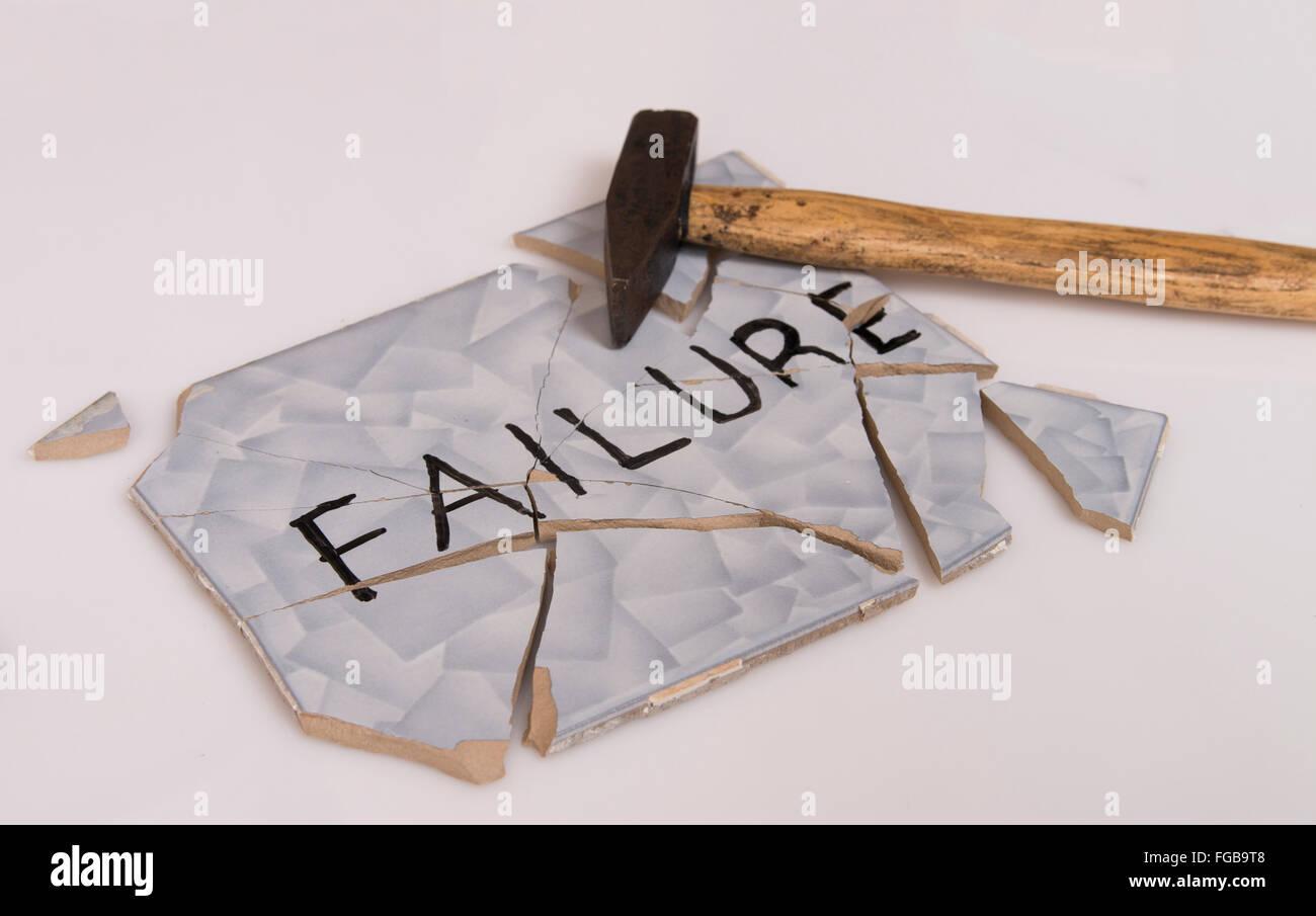overcome failures - Stock Image