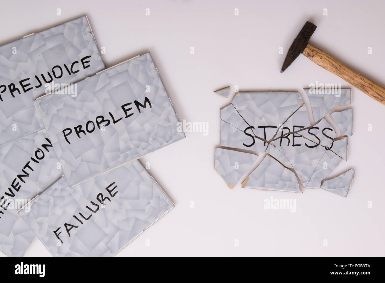 overcome stress and problems - Stock Image
