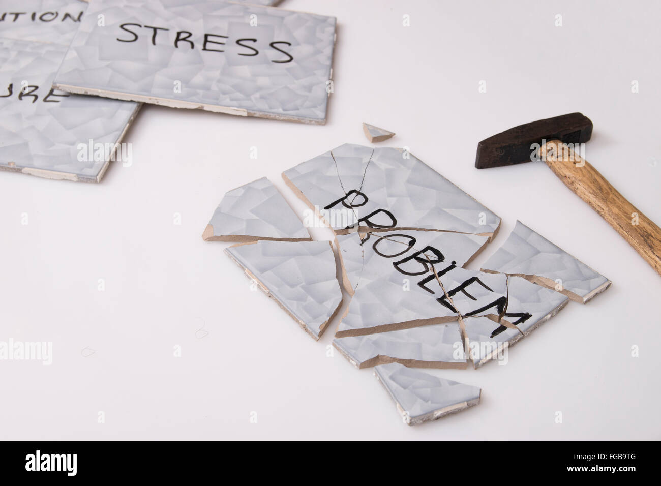 overcome problem - Stock Image