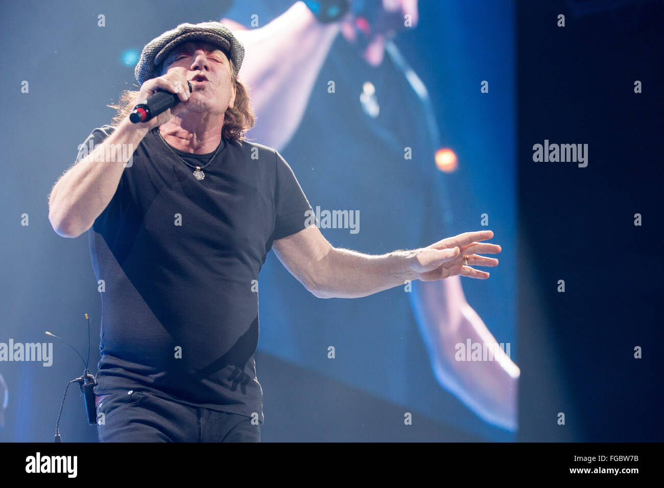 Ac Dc Performs On Rock Bust Stock Photos & Ac Dc Performs On Rock ...