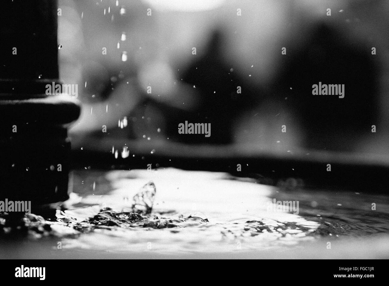 Dripping Water Black and White Stock Photos & Images - Alamy
