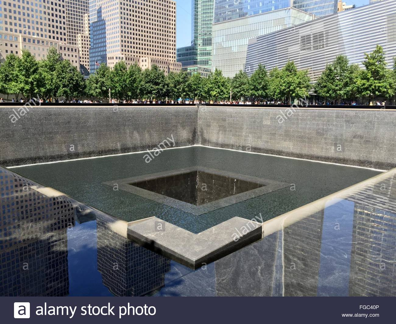 High Angle View Of National September 11 Memorial & Museum - Stock Image