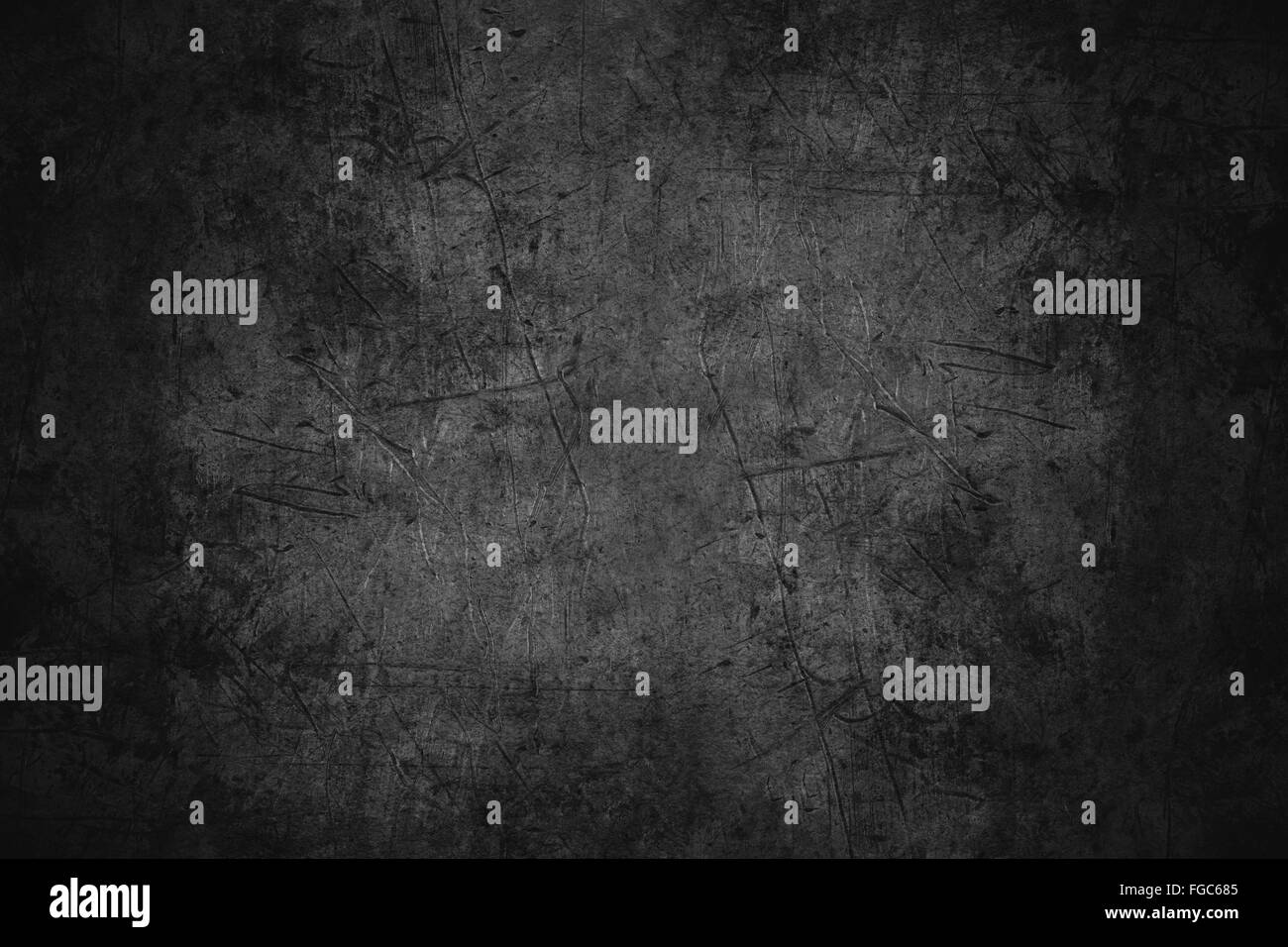 black scratched metal texture or rough pattern iron background - Stock Image