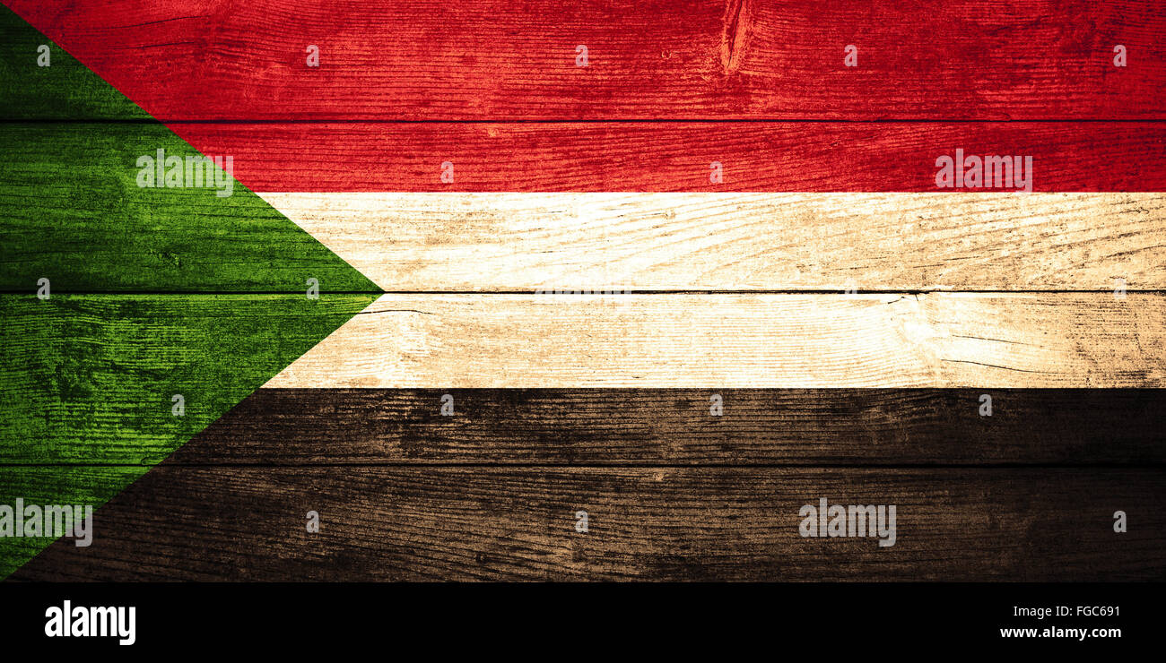 flag of  or  banner on wooden background - Stock Image