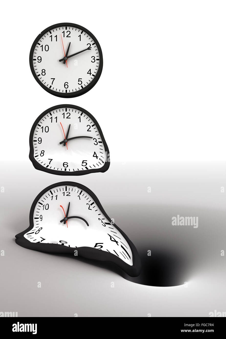 Time and black hole - Stock Image
